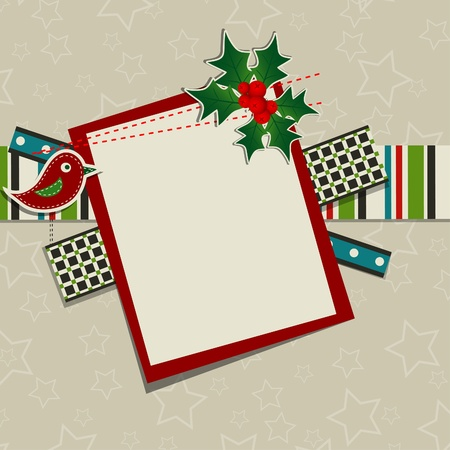Template Christmas greeting card, vector illustration Stock Vector - 16683796