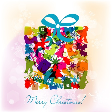 Template Christmas greeting card, vector illustration Stock Vector - 16683856