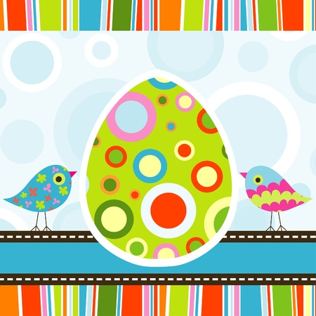 Template Easter greeting card, vector illustration Stock Vector - 17772412