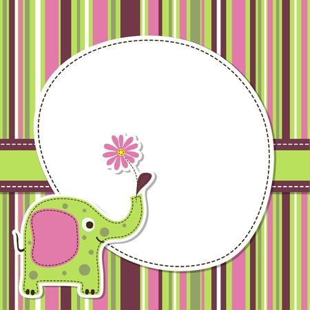 Template greeting card, vector scrap illustration Stock Vector - 17772435