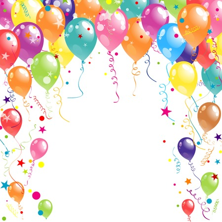 party balloons: Color beautiful party balloons, vector illustration