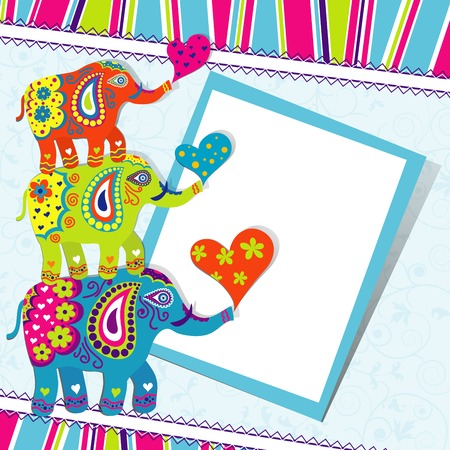 vector greeting card: Template greeting card, vector illustration