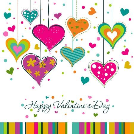 Šablona Valentine blahopřání, vektorové ilustrace
