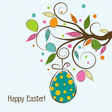 Template Easter greeting card, vector illustration Vector