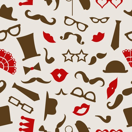 Hipster seamless pattern, vector illustration Vector