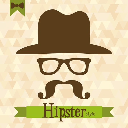 Hipster greeting card, vector illustration Vector