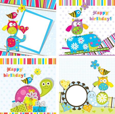invitation background: Template greeting card, vector illustration