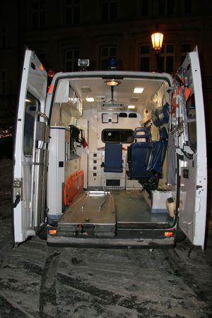 Ambulance with open door photo