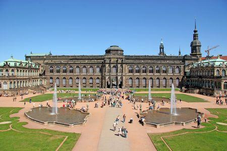 east germany: Zwinger Museum in Dresden, Germany