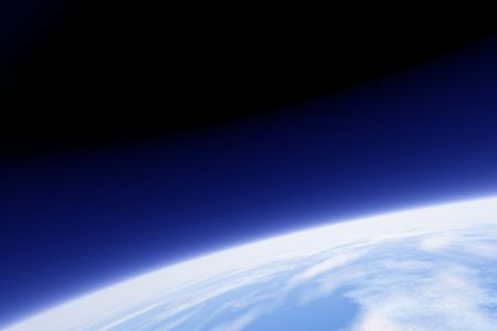 orbit: An image of earth from its orbit Stock Photo
