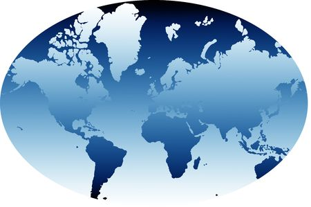 A map of the world in a classic atlas globe form Stock Photo