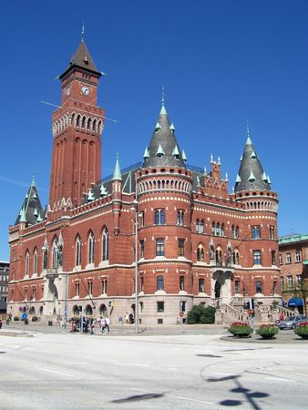 An image of the helsingborg town hall Stock Photo - 911618