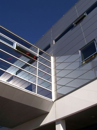 An image of a corperate office building facility Stock Photo