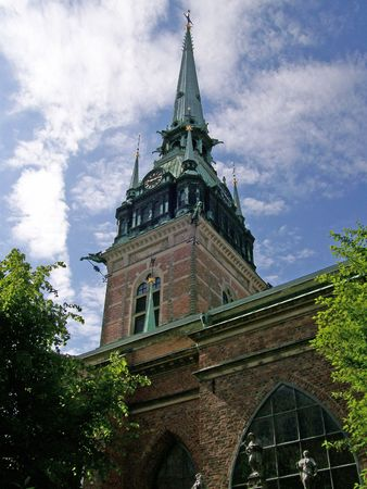 god box: An image of a church in the swedish capital of stockholm