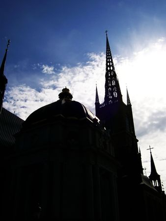 god box: A silhouette of a church in the swedish capital of stockholm