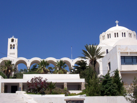 aegean: Image of a church on the greek island of santorini Stock Photo