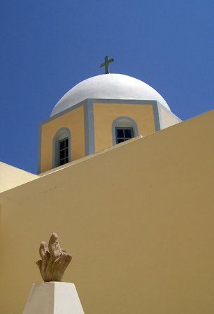 Image of a church on the greek island of santorini Stock Photo - 1464278