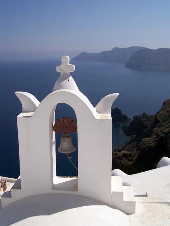 Image of a church on the greek island of santorini photo