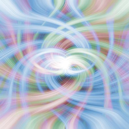 wisps: A colourful vortex of wisps and twirls