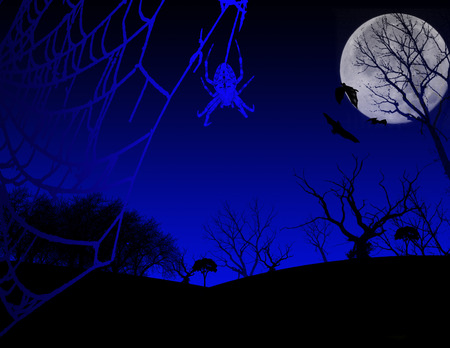 a spooky  background image with full moon