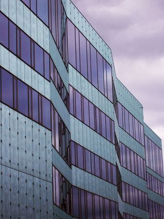 storied: An image of a corperate office building facility Stock Photo