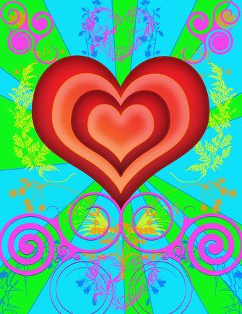 saint valentines: immagine della scheda o di priorit� bassa di giorno di valentines del san