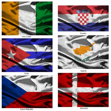 Part of a collection of the fabric flags of the world series Stock Photo - 2676892