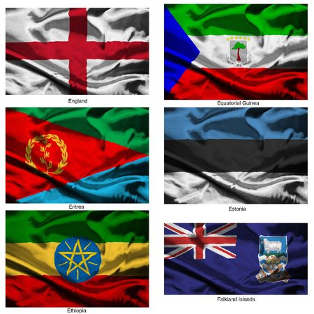 Part of a collection of the fabric flags of the world series Stock Photo - 2676878