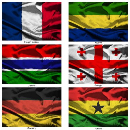 Part of a collection of the fabric flags of the world series Stock Photo - 2676877