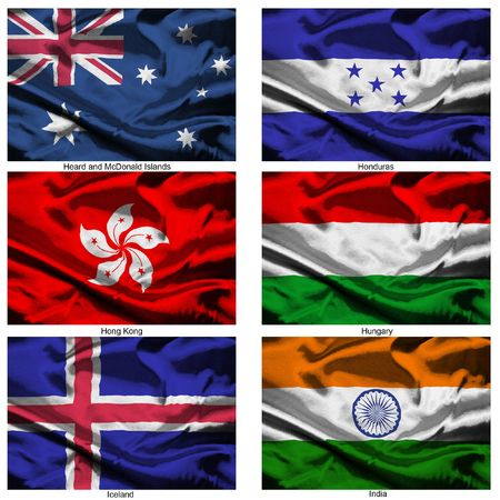 Part of a collection of the fabric flags of the world series Stock Photo - 2676879