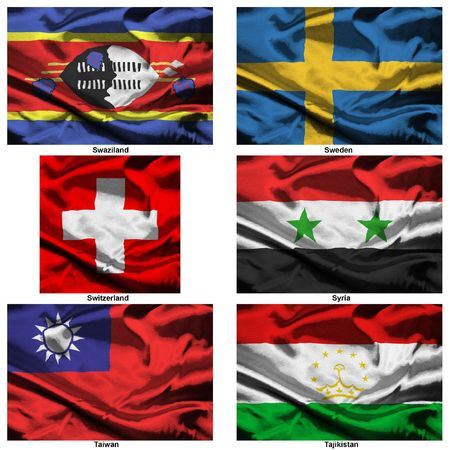 syria: Part of a collection of the fabric flags of the world series Stock Photo
