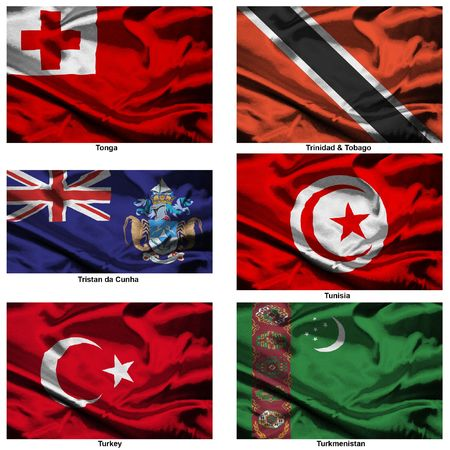 Part of a collection of the fabric flags of the world series Stock Photo - 2676865