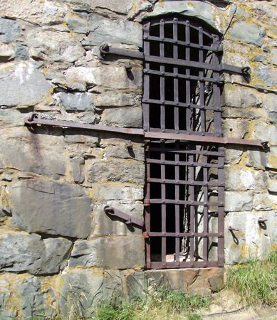 a view of a dungeon window from the outside of the Elfsborg fortress at Gothenburg in Sweden Stock Photo - 3507732