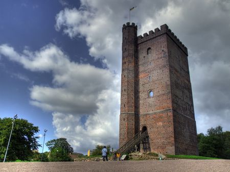 swede: An HDR image of an old fortification called k&auml,rnan from the city of Helsingborg in Sweden. Stock Photo