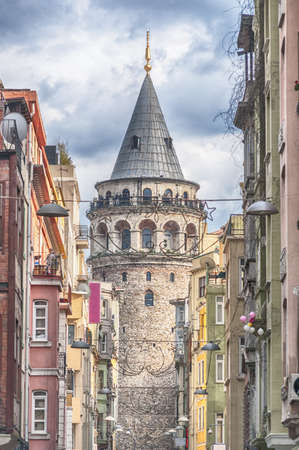 tourist attractions: The Galata Tower is one of Istanbuls most visited tourist attractions. Editorial
