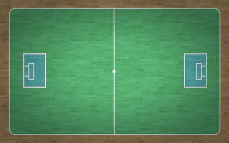 An overhead view of an Innebandy court complete with markings. photo