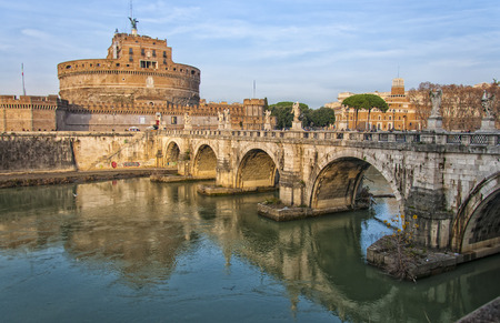 The Castel Sant Angelo situated in the Italien capital of Rome.