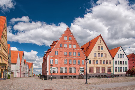JAKRIBORG, SWEDEN - JUNE 24: Picture of street in Jakriborg, Sweden on June 24, 2014. Jakriborg is a new classical housing project built in the municipality of Staffanstorp in the region of Skane.