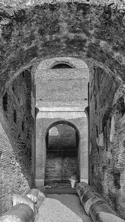 emporium: ROME - January 7: Colosseum (Coliseum) on January 7, 2014 Rome, Italy. The Colosseum is an important monument of antiquity and is one of the main tourist attractions of Rome. Editorial