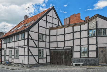 sweden resting: A very old building near the campus grounds of Lund university in Sweden.