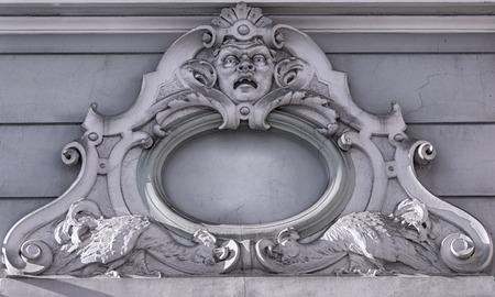grand design: A grand design on a grand building in the gamla stan district of Riga in Latvia.