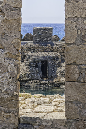 kreta: The fort of Lerapetra was built to protect the port and the city some time in the 13th century by the Venetians. Stock Photo