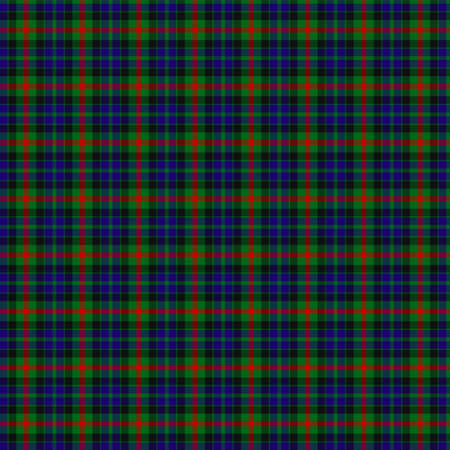 clan: A seamless patterned tile of the clan Gunn tartan.