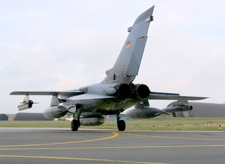 ag: Panavia Tornado IDS AG 51 back from mission TLP 1 2007