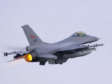 afterburner: F-16A MLU Norway take off full afterburner