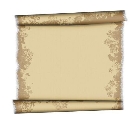 deckled: Christmas Parchment With Snowflakes
