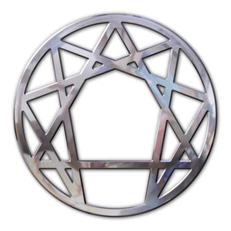 forth: enneagram 3d in chromed metal