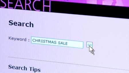 web search christmas sale, web concept photo Stock Photo