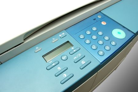 Modern copier, top view. Management buttons. Stock Photo