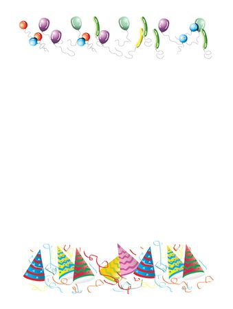 Celebrations letter background illustration. White background. Invitation. Stock Photo